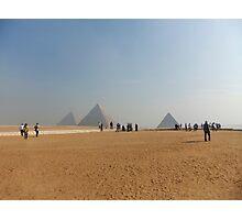 Pyramids at Giza Photographic Print