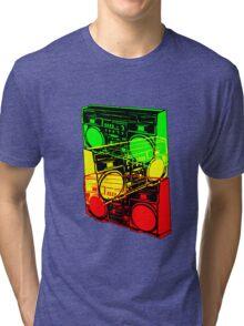 Ghetto Blaster Trio Design Tri-blend T-Shirt
