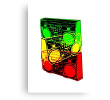 Ghetto Blaster Trio Design Canvas Print