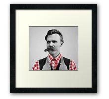 Hipster Nietzsche Framed Print
