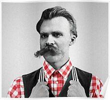 Hipster Nietzsche Poster