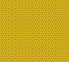Yellow Flower Power Pattern | Geometry by ARTDICTIVE