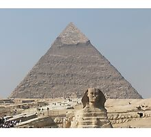 Pyramid and Sphinx at Giza Photographic Print