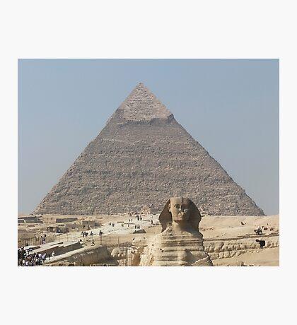 Pyramid and Sphinx at Giza Photographic Print