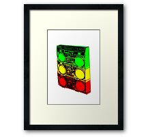 Ghetto Blasta Stack Framed Print
