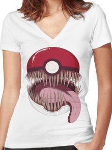 Mimic Ball Women's Fitted V-Neck T-Shirt