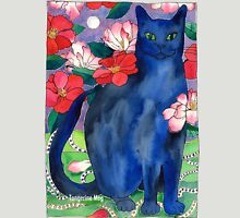 Elizabet's Camellias - Russian Blue Womens Fitted T-Shirt