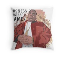 biggie smalls B.I.G. rEP STAR Throw Pillow