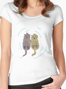 Love One An Otter - V2 Women's Fitted Scoop T-Shirt