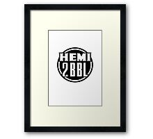 Hemi 2BBL Decal Design Framed Print