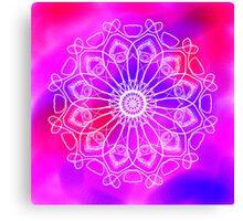 Pink and Purple Mandala Canvas Print