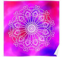 Pink and Purple Mandala Poster