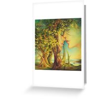 An Encounter at the Edge of the Forest Greeting Card