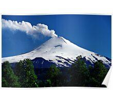 Smoking Volcano Villarrica, Chile Poster