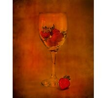 Strawberry Still Life IV Photographic Print