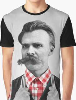 Hipster Nietzsche Graphic T-Shirt