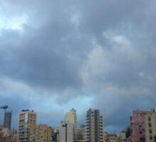 Beirut Sky and City Sticker