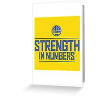 GOLDEN STATE WARIOS-STRENGTH IN NUMBERS Greeting Card