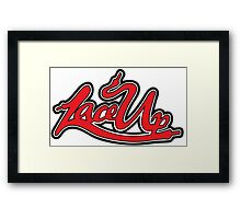 Machine Gun Kelly - lace up Framed Print