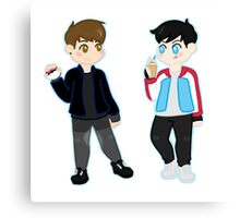 pokémon trainers d&p Canvas Print