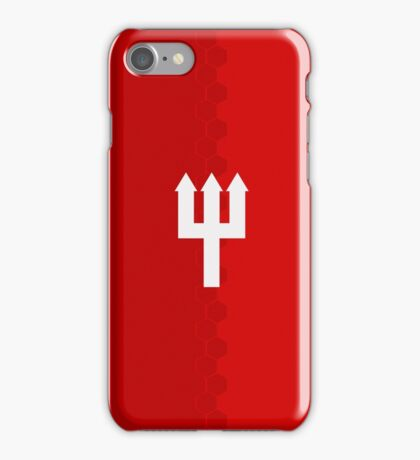 Manchester United Trident Design - Home Shirt 2016/17 [Red & White] iPhone Case/Skin