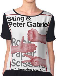 Peter Gabriel Sting Rock Paper Scissors 1 Chiffon Top