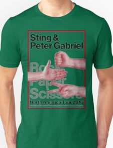 Peter Gabriel Sting Rock Paper Scissors 1 Unisex T-Shirt