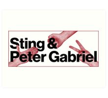 Peter Gabriel Sting Rock Paper Scissors 2 Art Print