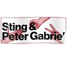 Peter Gabriel Sting Rock Paper Scissors 2 Poster