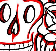 """Bold-School"" Candy Skull. Sticker"