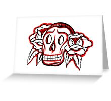"""Bold-School"" Candy Skull. Greeting Card"