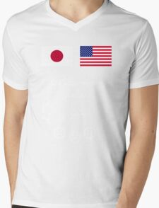 japan x usa a better world Mens V-Neck T-Shirt