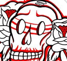 """""""Bold-School"""" Sugar Skull. Sticker"""
