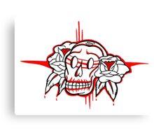 """Bold-School"" Sugar Skull. Canvas Print"