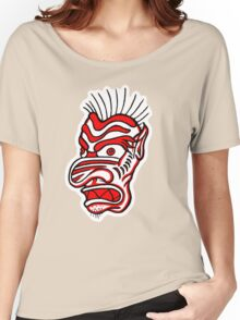 """""""Bold-School"""" Tiki Mask. Women's Relaxed Fit T-Shirt"""