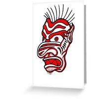 """Bold-School"" Tiki Mask. Greeting Card"