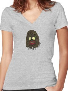 Zombie Chewbacca Women's Fitted V-Neck T-Shirt