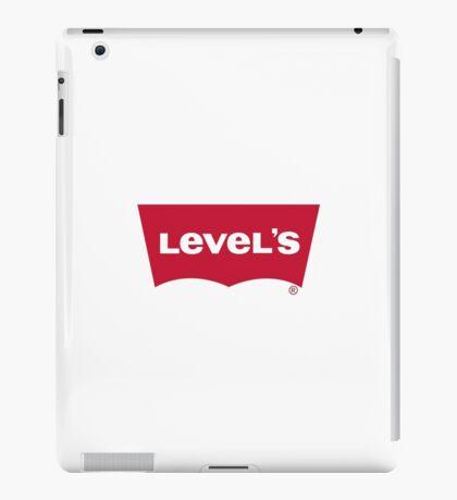 Level's Levi's play on word logo iPad Case/Skin