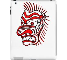 """Bold-School"" Tiki Head. iPad Case/Skin"
