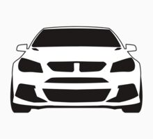 Front View Design: HSV VF GTS Clubsport Tee Shirt / Sticker for Holden Enthusiasts One Piece - Long Sleeve
