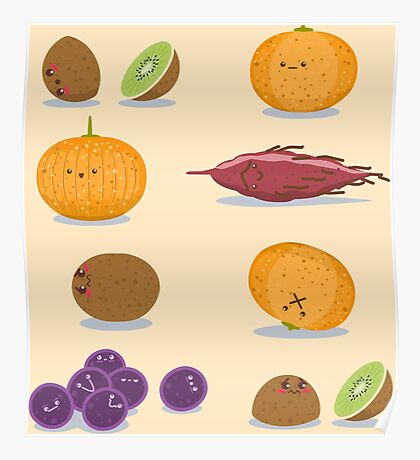 Funny Fruits Fun Pack Poster
