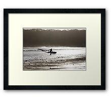 Surfer at Dusk Framed Print