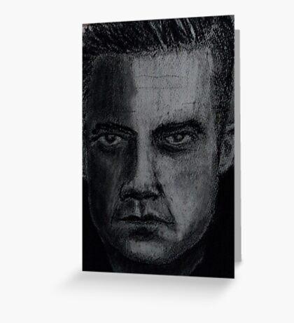 Charcoal portrait man Greeting Card
