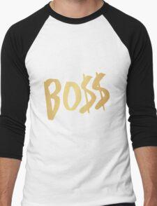 BO$$ - Gold Men's Baseball ¾ T-Shirt
