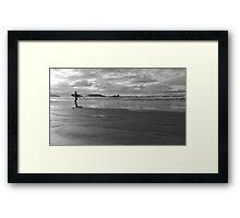Surfer Dude at Sunset Framed Print