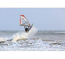 Surfer Riding the Waves Photographic Print