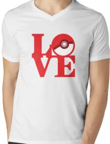 Love Pokemon Mens V-Neck T-Shirt