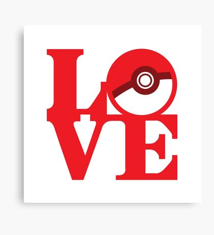 Love Pokemon Canvas Print