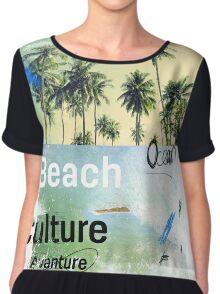 Beach culture avanture  Chiffon Top