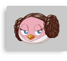 Leia the mediumly angry bird Canvas Print